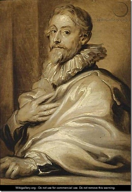 An En Grisaille Portrait Of The Engraver Pieter De Jode The Elder_Van Dyck