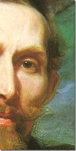 Van Dyck's portrait of Frans Snyders_detail
